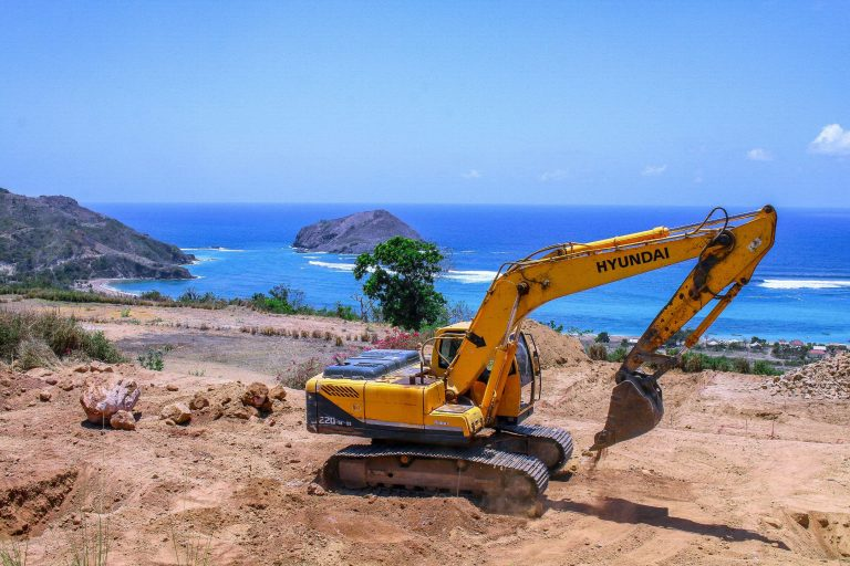 Nagaindo land for sale investment property Kuta Lombok servicing earthworks