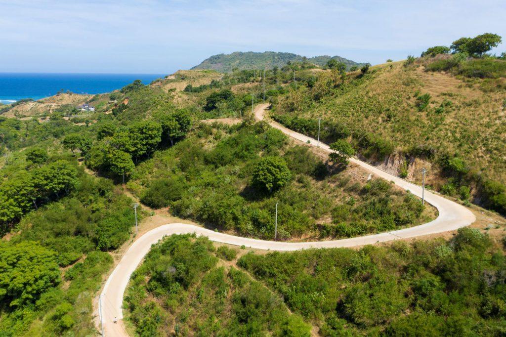 Nagaindo land for sale investment property Kuta Lombok surf yoga villa servicing electricity road