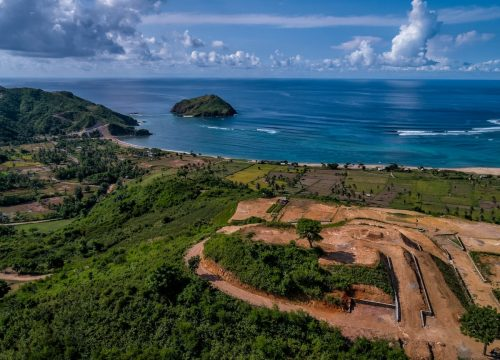 Land for sale investment property Kuta Lombok surf yoga villa subdivision hotel Mandalika international airport Rinjani pristine beach sunset sunrise hill view